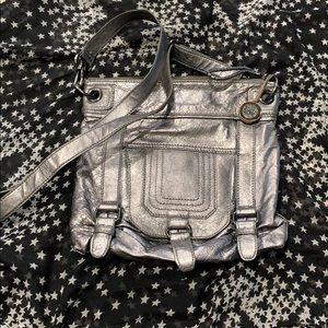 Pewter The SAK leather crossbody bag
